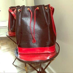 Louis Vuitton Vintage Handbag black and red